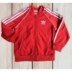 Adidas Kid's Red Jacket Size 18 Mos.